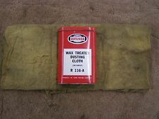 OEM Ford Wax Treated Dusting Cloth Can Rotunda 1960's Fairlane Galaxie Mustang +