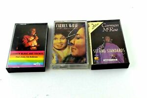 Carmen McRae And Friends Sarah Vintage Music Audio Cassette Tape Lot of 3