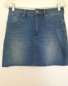 RIDERS BY LEE women's Designer Light Wash Stretch Denim Mini pencil Skirt 10 EUC