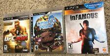 PS3 Games Lot | LittleBigPlanet, Infamous, UFC