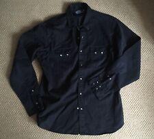 Ralph Lauren Polo para hombre Negro Western Shirt L