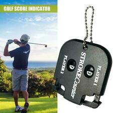 Portable Small Black Golf Scorer Counter Stroke Shot Keychain Counter NEW A6D2