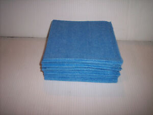 "25 REUSABLE WIPES BLUE 17"" X 13""  FREE S/H"