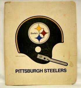 1971 PITTSBURGH STEELERS NFL PAPER 3 RING NOTEBOOK BINDER