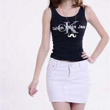 Fashion Women Button Denim Skirt High Waist Bodycon Slim Pencil Short Mini Skirt