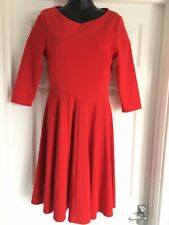 PHASE EIGHT SMART  RED  DRESS SIZE 8