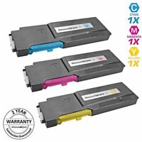 Set for Xerox 6600 Phaser 106R2225 3pk Color Cartridge WorkCentre 6605 Cyan