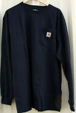 CARHARTT K126 LONG SLEEVE WORKWEAR T-SHIRT BLACK LG