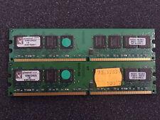Kingston kvr667d2n5/2g pc5300 ddr2 di RAM 4gb (2x 2gb) #r6658 <