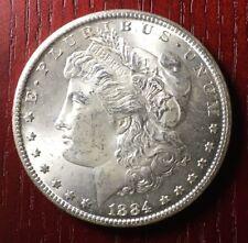 1884-CC MORGAN SILVER DOLLAR key date US coin KM#110 Carson City mint FREE SHIP