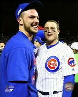 """Kris Bryant & Anthony Rizzo Chicago Cubs NLCS Celebration Photo (8"""" x 10"""")"""
