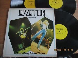 LED ZEPPELIN..HOW MANY MORE TIMES..3LPs..SUPERB RARE UK ISSUE LABEL No VD 24