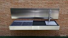BBQ Designer Stainless Steel Outdoor Kitchen Granite Top Luxurious Charcoal