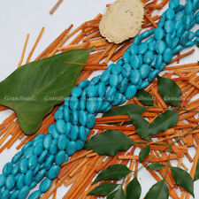 "Wholesales 10 strands x 8x12mm Oval Howlite Turquoise Gemstone Beads 15"" GB245"