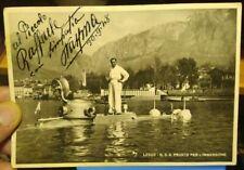 1948 Postcard Autographed of Large Inventor of Malgrate Pietro Vassena with C3