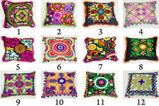 Suzani Cushion Cover Pillow Embroidered Indian Cotton Ethnic Cases Wholesale Lot