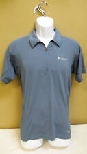 Columbia Athletic Sports Shirt, Partial Zip, Size M