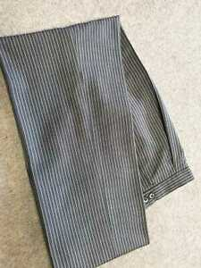 Mens Masonic Light Grey Stripe Wedding Evening Formal Suit Masons Trousers