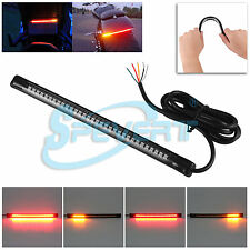 Motorcycle Motor Soft 32 LED Tail Rear Brake Turn Signal Indicadores Light Strip