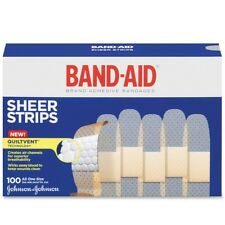 BAND-AID Bandages Sheer Strips 3/4 Inch 100 Each