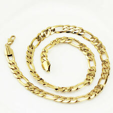Luxury Mens Jewellery 18 k Gold Plated Necklace for Men Chain Wide 9 mm N306