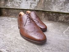 CROCKETT & JONES BROGUES – BROWN / TAN - UK 9 –  LUDGATE – VERY GOOD CONDITION