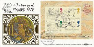 (86931) GB Benham FDC BLCS36 Edward Lear minisheet Learmonth 1988