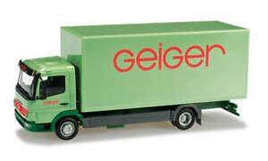 """Herpa 903226 Spur H0 1/87 Mercedes Benz Atego Koffer LKW """"Geiger"""""""