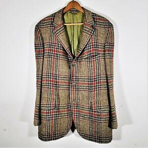 Vintage 50s Langrock Princeton Tweed SUIT JACKET Blazer Sport Coat 1950s Ivy 44