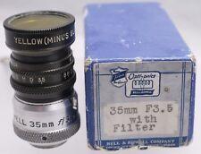 Rare Boxed - Bell & Howell Filmo Optionics 35mm F3.5 D Mount Cine Movie Lens