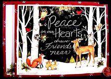 SUSAN WINGET CHRISTMAS Deer Fox Bunny Rabbits Owl Raccoon Birds  Greeting Card
