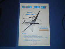AEROKLUB HEROJ PINKI - EX-YUGOSLAVIA AERO CLUB POSTER 1963 FOR NEW PARACHUTISTS