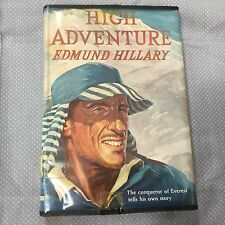 High Adventure by Edmund Hillary 1955 Hardcover w/ Dj 1st First Edition Everest