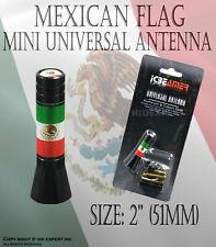 JDM 76mm Mini Mexican Flag bandera mexicana vehiculo de radio AM/FM antena Z52