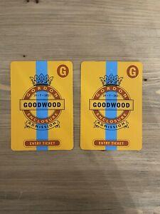 GLORIOUS GOODWOOD QATAR FESTIVAL TICKET-GORDON ENCLOSURE FOR 29/07/21