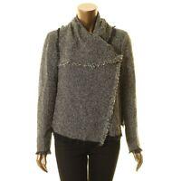 ANNE KLEIN NEW Women's Tweed Cowl-neck Wear To Work Blazer Jacket Top TEDO