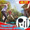 15M Kinderspiel Trampolin Wassersprinkler Outdoor Garten Spaß Sprühschlauch Set