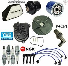 Tune Up Kit Filters Pcv Cap Rotors Wires Plugs for Honda Accord 2.2L 1994-1996