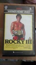 Rocky 3 VHS Tape Warner Home Video Rated PG Sylvester Stallone - WEL P32