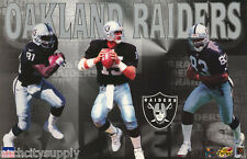 POSTER: NFL  FOOTBALL: OAKLAND RAIDERS - 3 KEY PLAYERS - FREE SHIPPING ! RW2 C