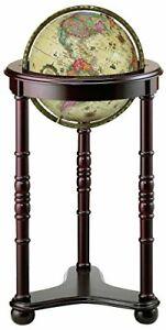 Replogle Lancaster Illuminated Floor Globe, Antique