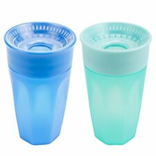 Dr. Brown's Cheers 360 Spoutless Training Cup 9m+ 10 Ounce Blue/Aqua 2 Count