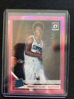 2019-20 Donruss Optic Terrance Mann Hyper Pink Prizm Rated Rookie LA Clippers RC