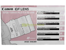 Canon EF 28/135mm. f3,5-5,6 IS USM instructions English Deutsch Francais Esp.