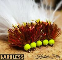 Barbless Hothead Olive/Red Fritz Lure size 12 (Set of 3) Fly Fishing Flies