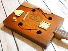 ShonKy 3 string cigar box guitar. Carbon Mahogany, Flatpup. Handmade Unique.