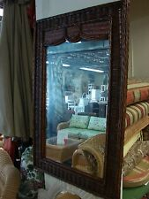Fran's Wicker Antique Moroccan Mirror