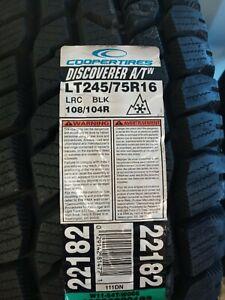 4 New Cooper Discoverer AT3 4S 111T 65K-Mile Tires 2457516,245/75/16,24575R16
