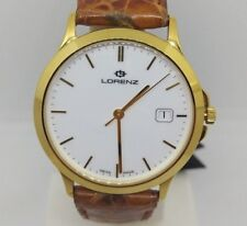 Orologio Uomo Oro 18 kt Lorenz Classic Solid 18ct Gold Swiss Mens Watches 900384