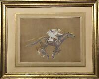 Tableau Dessin ancien 19è XIXè 20è XXè Olivier Pichat Courses chevaux Longchamp